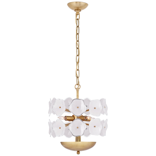 Visual Comfort KS 5065SB-CRE kate spade new york Leighton Small Chandelier in Soft Brass
