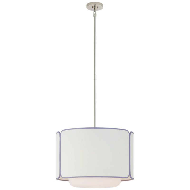 Visual Comfort KS 5081PN/WG-L/LLC kate spade new york Eyre Medium Hanging Shade in Polished Nickel and Soft White Glass