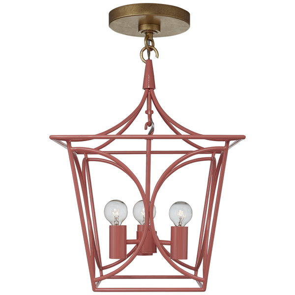 Visual Comfort KS 5143CRL/G kate spade new york Cavanagh Mini Lantern in Coral and Gild