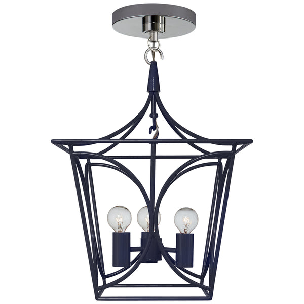Visual Comfort KS 5143NVY/PN kate spade new york Casual Cavanagh Mini Lantern in French Navy and Polished Nickel