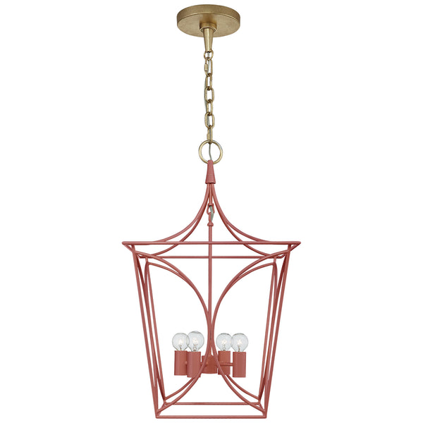 Visual Comfort KS 5144CRL/G kate spade new york Cavanagh Small Lantern in Coral and Gild