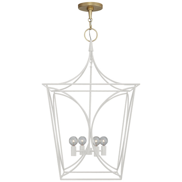 Visual Comfort KS 5145LC/G kate spade new york Cavanagh Medium Lantern in Light Cream