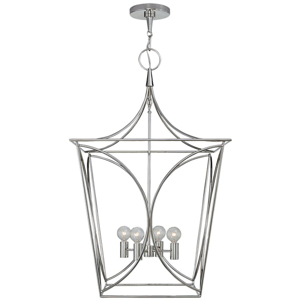 Visual Comfort KS 5145PN kate spade new york Cavanagh Medium Lantern in Polished Nickel