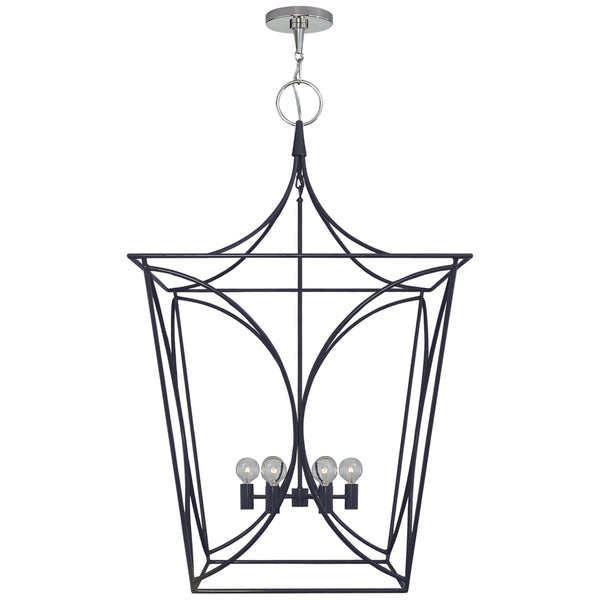 Visual Comfort KS 5146NVY/PN kate spade new york Cavanagh Large Lantern in French Navy and Polished Nickel