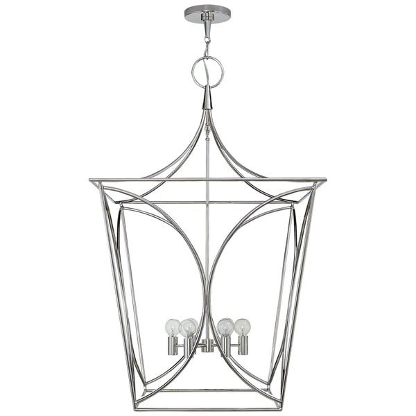 Visual Comfort KS 5146PN kate spade new york Cavanagh Large Lantern in Polished Nickel