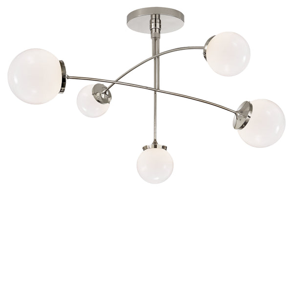Visual Comfort KS 5403PN-WG kate spade new york Prescott Medium Mobile Chandelier in Polished Nickel