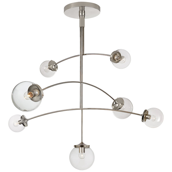 Visual Comfort KS 5404PN-CG kate spade new york Prescott Large Mobile Chandelier in Polished Nickel