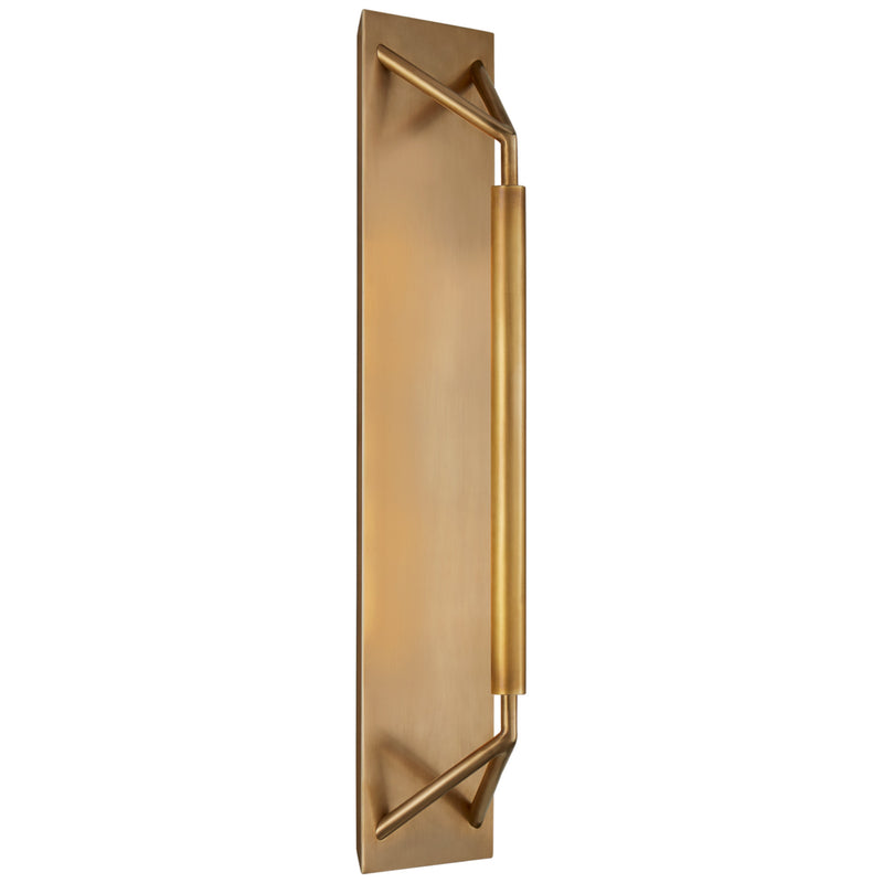 Visual Comfort KW 2700AB Kelly Wearstler Appareil Large Sconce in Antique-Burnished Brass