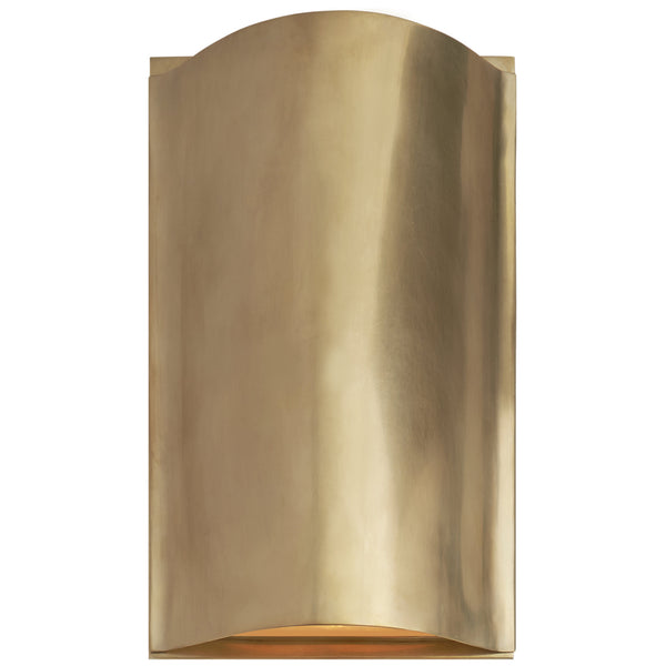 Visual Comfort KW 2704AB-FG Kelly Wearstler Avant Small Curve Sconce in Antique-Burnished Brass