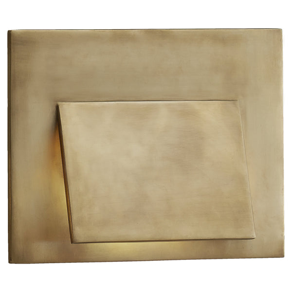 Visual Comfort KW 2706AB Kelly Wearstler Esker Envelope Sconce in Antique-Burnished Brass
