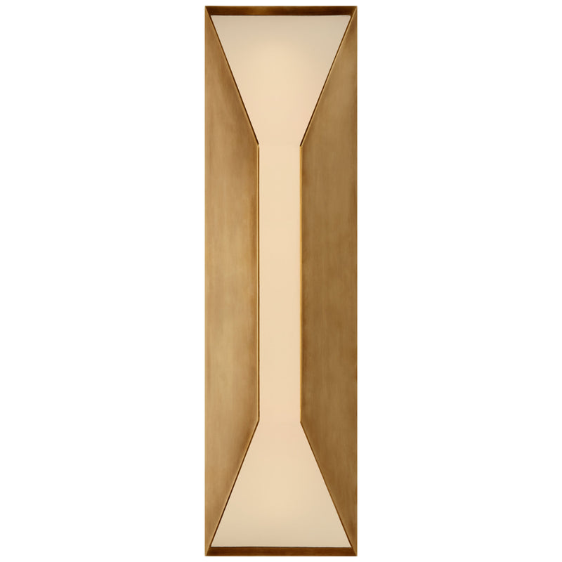 Visual Comfort KW 2721AB-FG Kelly Wearstler Stretto Medium Sconce in Antique-Burnished Brass