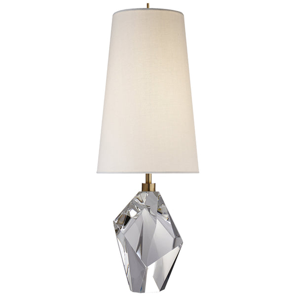 Visual Comfort KW 3012CG-L Kelly Wearstler Halcyon Accent Table Lamp in Crystal