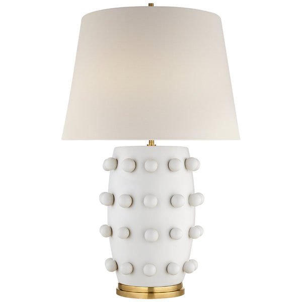 Visual Comfort KW 3031PW-L Kelly Wearstler Linden Medium Lamp in Plaster White