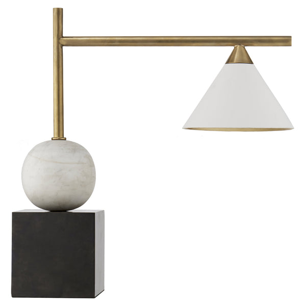 Visual Comfort KW 3088BZ/AB Kelly Wearstler Cleo Desk Lamp in Bronze with Antique Brass