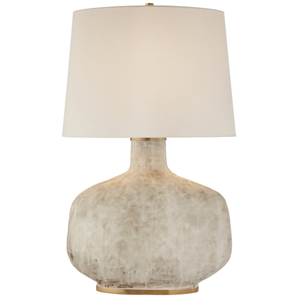 Visual Comfort KW 3614AWC-L Kelly Wearstler Beton Large Table Lamp in Antiqued White Ceramic