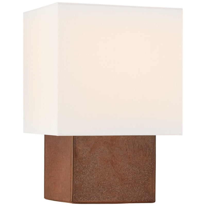 Visual Comfort KW 3676ACO-L Kelly Wearstler Pari Small Square Table Lamp in Autumn Copper