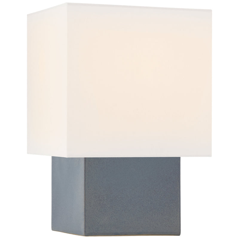 Visual Comfort KW 3676CLB-L Kelly Wearstler Pari Small Square Table Lamp in Cloudy Blue