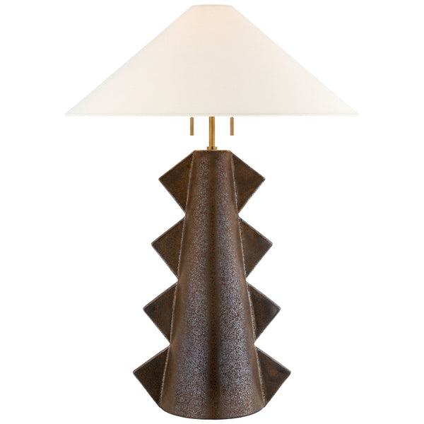 Visual Comfort KW 3681CBZ-L Kelly Wearstler Senso Large Table Lamp in Crystal Bronze