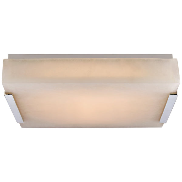 Visual Comfort KW 4113PN-ALB Kelly Wearstler Modern Covet Medium Flush Mount in Polished Nickel with Alabaster