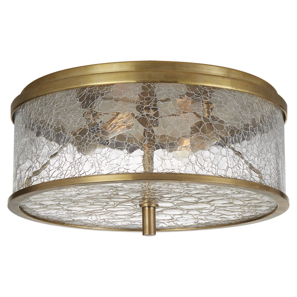 Visual Comfort KW 4202AB-CRG Kelly Wearstler Modern Liaison Medium Flush Mount in Antique-Burnished Brass