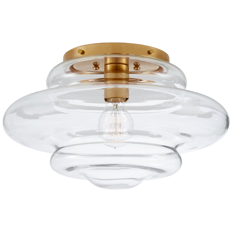 Visual Comfort KW 4271AB-CG Kelly Wearstler Tableau Medium Flush Mount in Antique-Burnished Brass