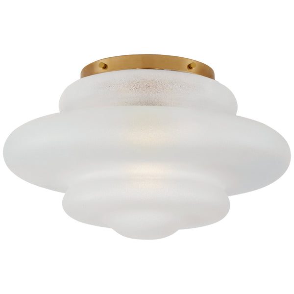 Visual Comfort KW 4271AB-VG Kelly Wearstler Tableau Medium Flush Mount in Antique-Burnished Brass