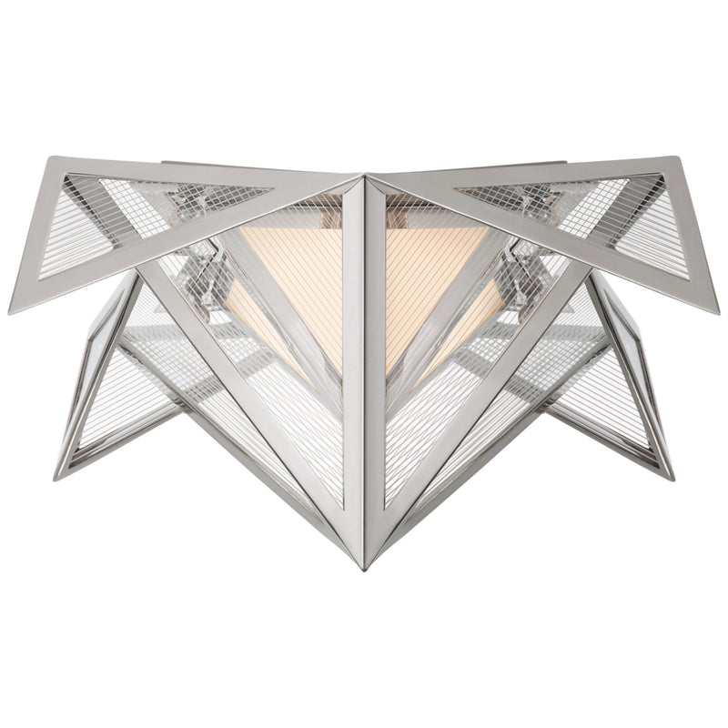 Visual Comfort KW 4650PN-CLG Kelly Wearstler Ori Small Flush in Polished Nickel