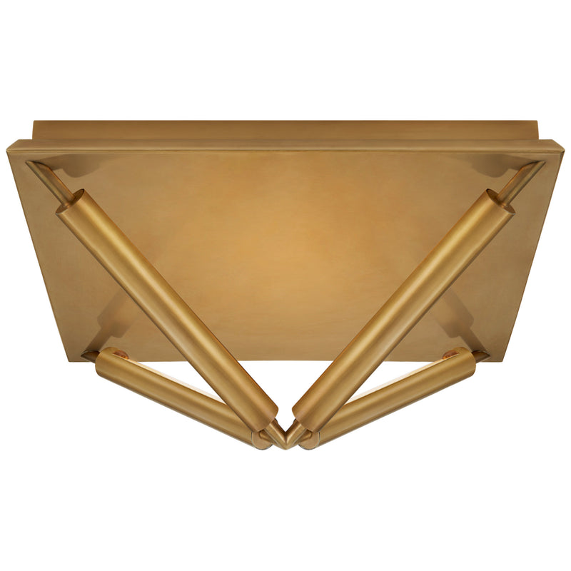 Visual Comfort KW 4700AB Kelly Wearstler Appareil Large Flush Mount in Antique-Burnished Brass