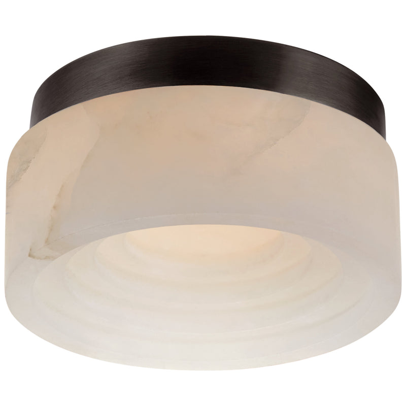 "Visual Comfort KW 4900BZ-ALB Kelly Wearstler Otto 5"" Solitaire Flush Mount in Bronze"