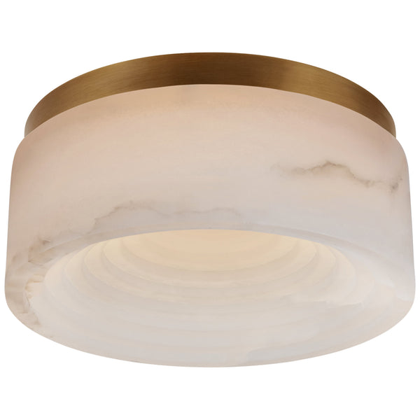 Visual Comfort KW 4901AB-ALB Kelly Wearstler Otto Small Flush Mount in Antique-Burnished Brass