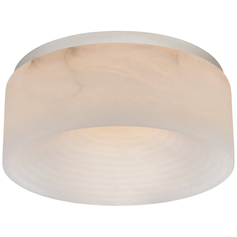 Visual Comfort KW 4902PN-ALB Kelly Wearstler Otto Medium Flush Mount in Polished Nickel