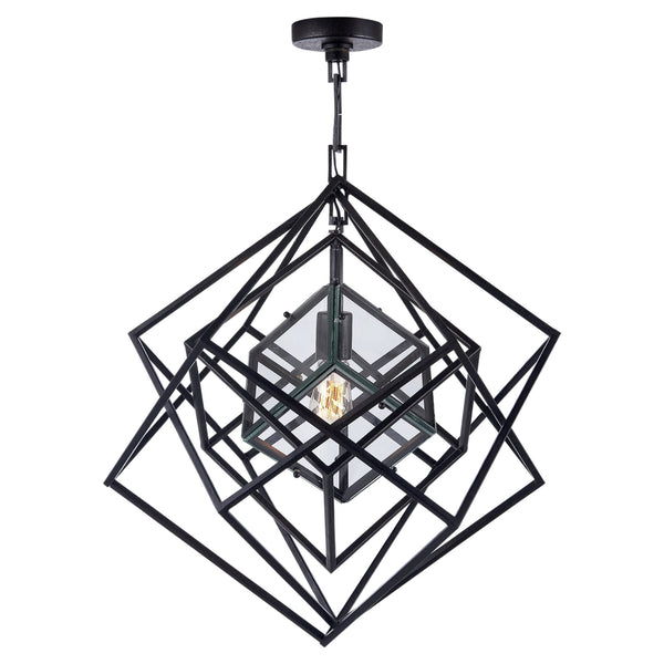 Visual Comfort KW 5020AI-CG Kelly Wearstler Cubist Small Chandelier in Aged Iron