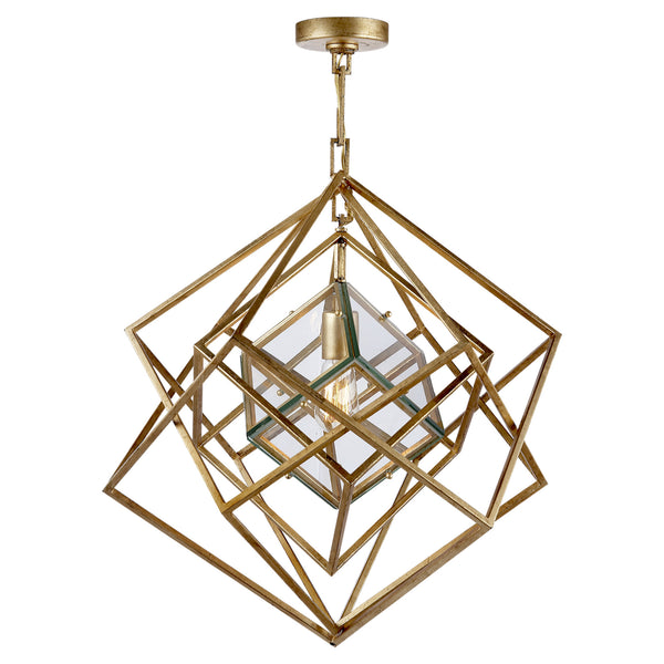 Visual Comfort KW 5020G-CG Kelly Wearstler Cubist Small Chandelier in Gild