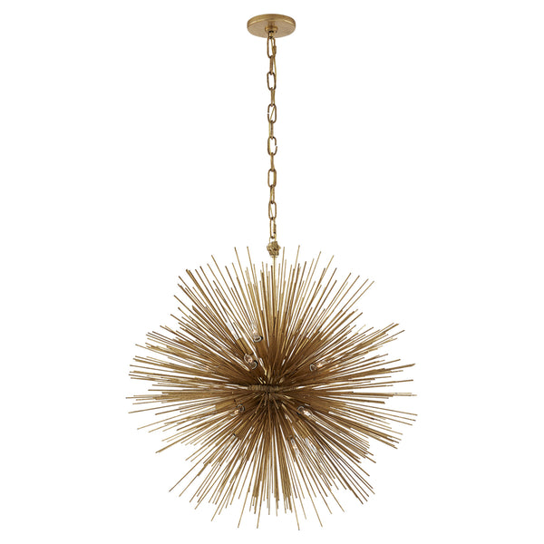 Visual Comfort KW 5071G Kelly Wearstler Strada Medium Round Chandelier in Gild