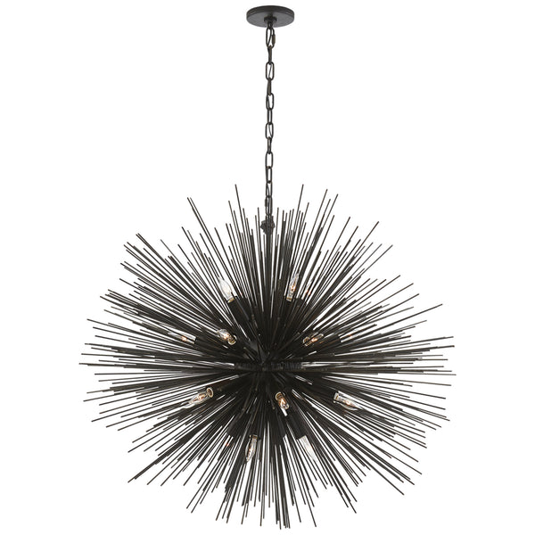 Visual Comfort KW 5072AI Kelly Wearstler Strada Large Round Chandelier in Aged Iron