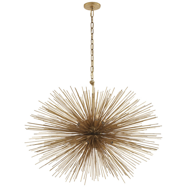 Visual Comfort KW 5074G Kelly Wearstler Strada Medium Oval Chandelier in Gild