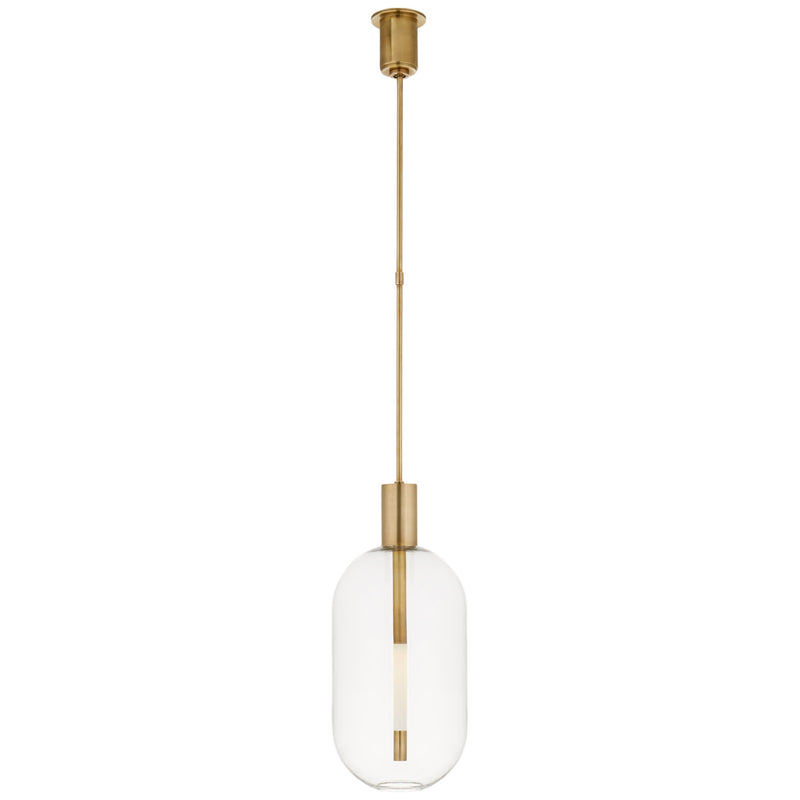 Visual Comfort KW 5132AB Kelly Wearstler Nye Tall Pendant in Antique-Burnished Brass