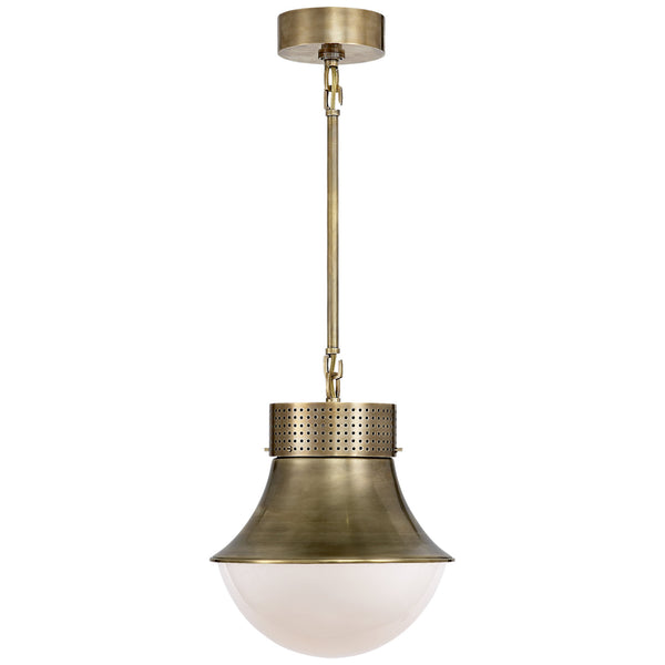 Visual Comfort KW 5221AB-WG Kelly Wearstler Precision Small Pendant in Antique-Burnished Brass