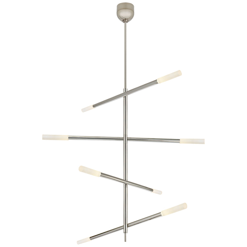 Visual Comfort KW 5593PN-EC Kelly Wearstler Rousseau Large Articulating Chandelier in Polished Nickel