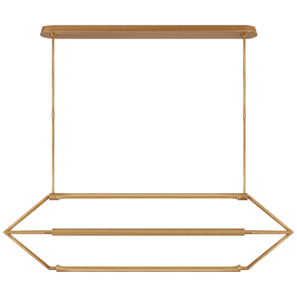 Visual Comfort KW 5705AB Kelly Wearstler Modern Appareil Large Linear Lantern in Antique-Burnished Brass