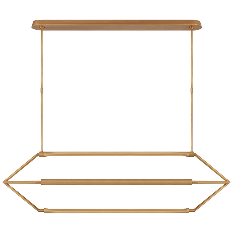 Visual Comfort KW 5705AB Kelly Wearstler Appareil Large Linear Lantern in Antique-Burnished Brass