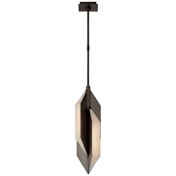 Visual Comfort KW 5721BZ-ALB Kelly Wearstler Modern Ophelion Small Pendant in Bronze with Alabaster