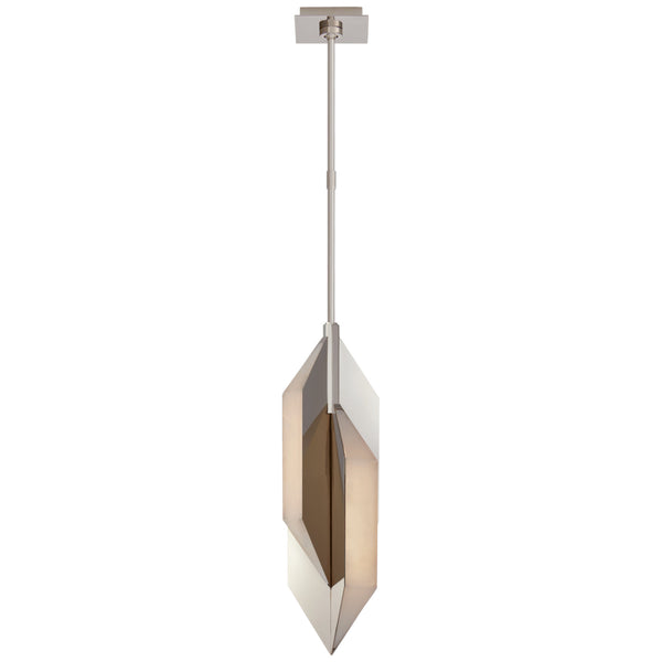 Visual Comfort KW 5721PN-ALB Kelly Wearstler Modern Ophelion Small Pendant in Polished Nickel with Alabaster