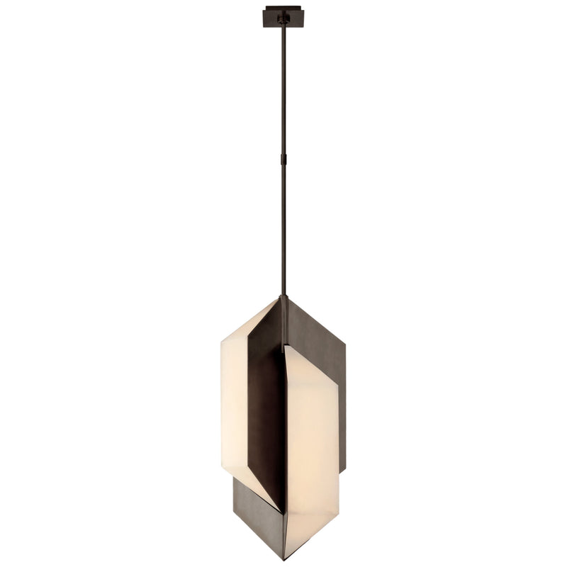 Visual Comfort KW 5722BZ-ALB Kelly Wearstler Ophelion Medium Pendant in Bronze