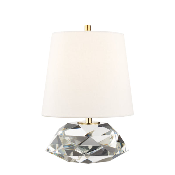Hudson Valley Lighting L1035-AGB Henley 1 Light Small Table Lamp in Aged Brass