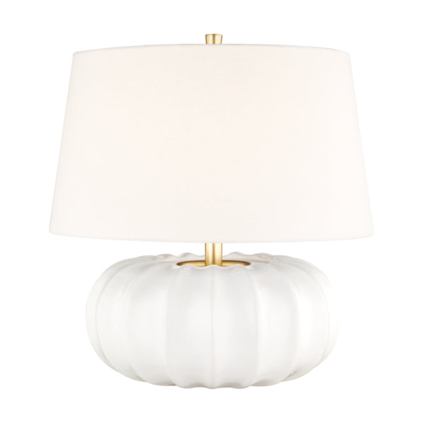 Hudson Valley Lighting L1049-WH Bowdoin 1 Light Large Table Lamp in White