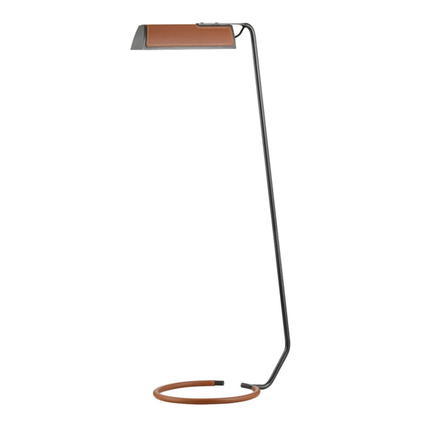 Hudson Valley Lighting L1297-OB Holtsville 1 Light Floor Lamp W/ Saddle Leather in Old Bronze