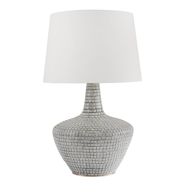 Hudson Valley Lighting L1357-GRY Truxton 1 Light Table Lamp in Gray