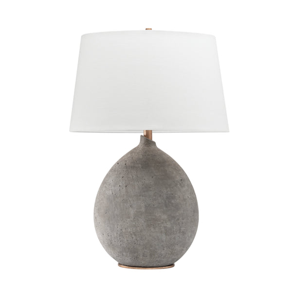 Hudson Valley Lighting L1361-GRY Denali 1 Light Table Lamp in Gray