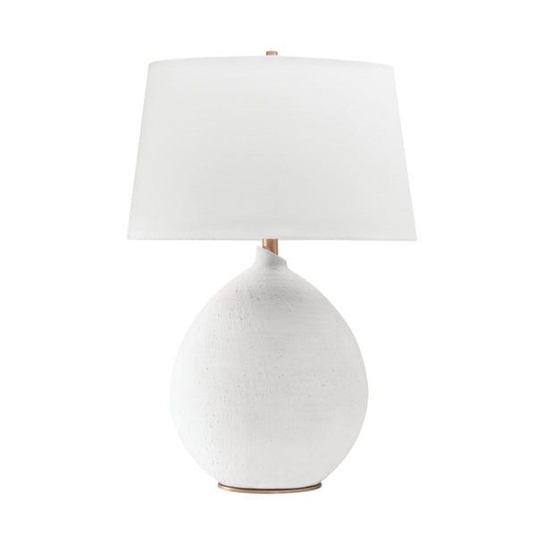 Hudson Valley Lighting L1361-WH Denali 1 Light Table Lamp in White